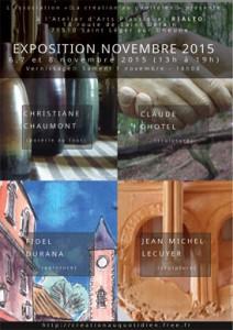 Affiche exposition Novembre 2015