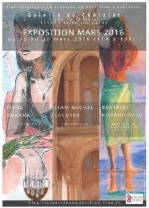 Exposition à la Galerie Châtelet, Chalon sur Saône