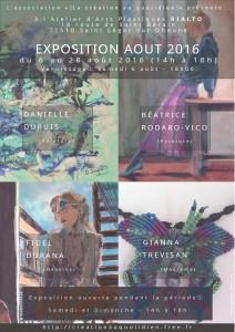 Affiche exposition Août 2016