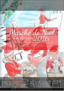 Affiche pour le marché de Noel 2016
