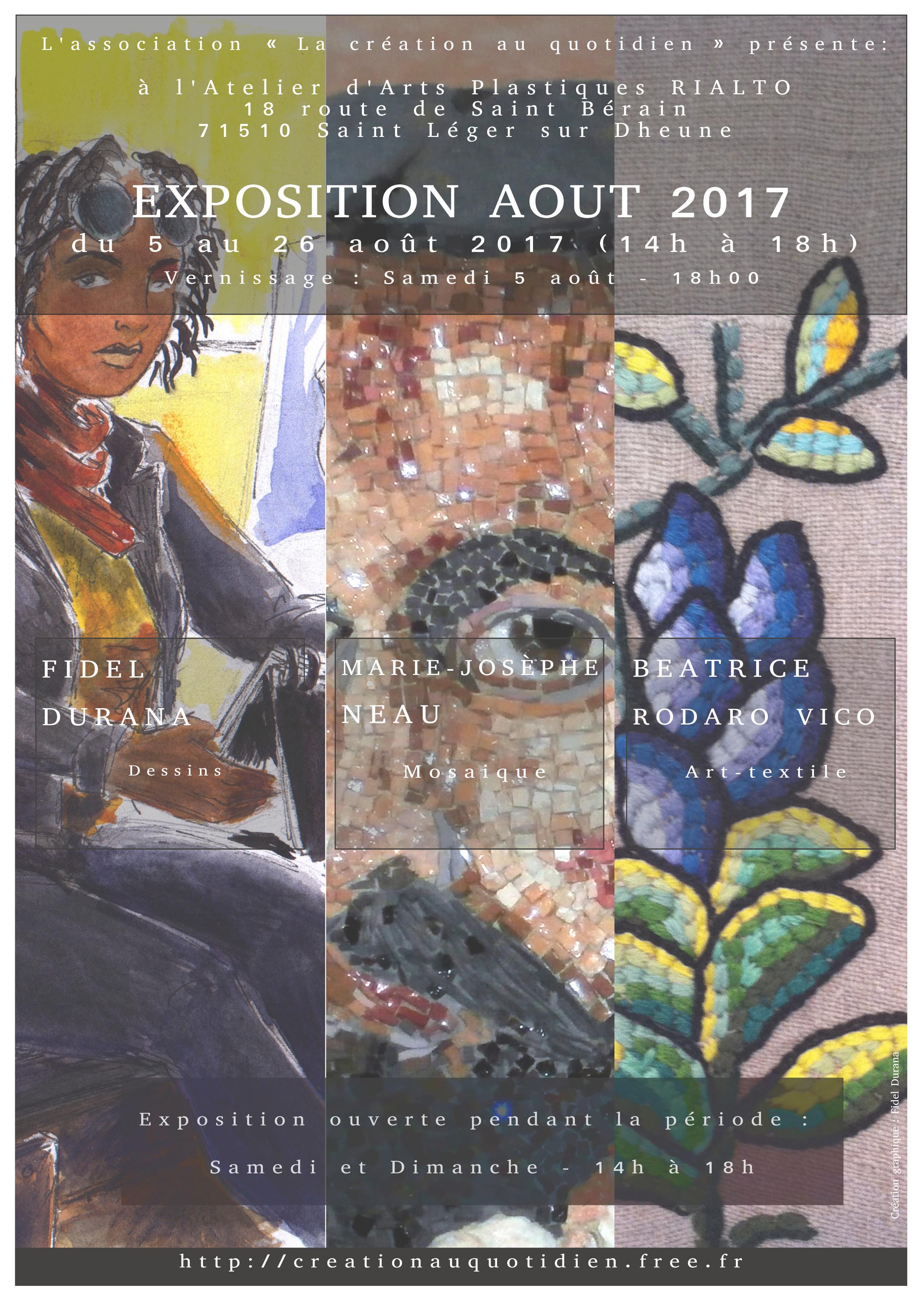 affiche expo aout 2017