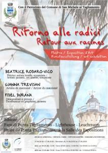 Affiche de l'exposition à Bibione (Italie, Vénétie) 2018
