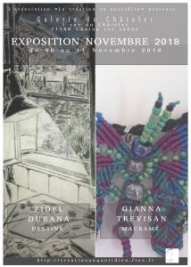Affiche exposition Novembre 2018